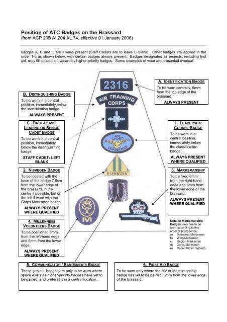 Air Cadet Senior Classification Badge