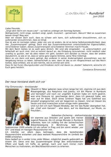 Consonare – Rundbrief - Sächsische Posaunenmission eV
