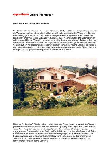 Wohnhaus mit versetzten Ebenen - cuprotherm