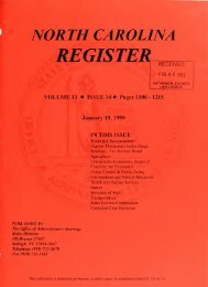 NC Register Volume 13 Issue 14 - Office of Administrative Hearings