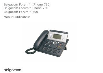 Belgacom Forum™ IPhone 730 Belgacom Forum ™ 700 Manuel ...