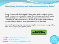 Uses Soma, ProSoma and Pain-o-soma for Pain Relief
