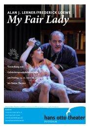 ALAN J. LERNER/FREDERICK LOEWE My Fair Lady Vorstellung ...