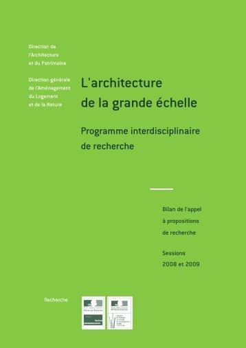 L'architecture de la grande échelle - Ministère du Développement ...
