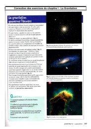 Correction des exercices du chapitre I gravitation