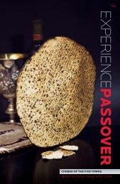 EXPERIEN CE PASSOVER - Chabad of the Five Towns