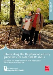 Older adults in transition - BHF National Centre - physical activity + ...