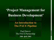 'Project Management for Business Development' An Introduction to ...