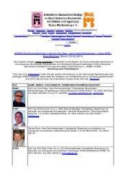 Koordination (Stand: 22.02.2011) - Arbeitskreis Bausachverständige ...