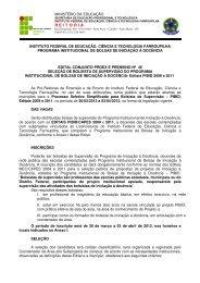Edital Supervisores PIBID março 2012 - Instituto Federal Farroupilha
