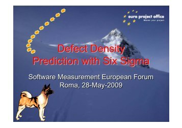 Defect Density Prediction with Six Sigma - DPO