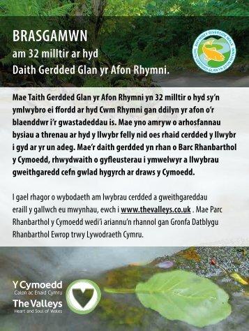 BRASGAMWN am 32 milltir ar hyd Daith Gerdded Glan yr Afon ...