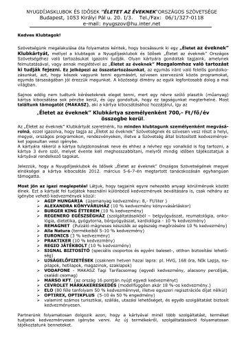Budapest, 1053 Királyi Pál u. 20. I/3. Tel./Fax: 06/1/327-0118 e-mail ...