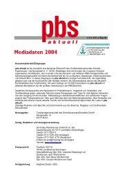 Kurzcharakteristik/Zielgruppe: pbs aktuell ist die monatlich ...