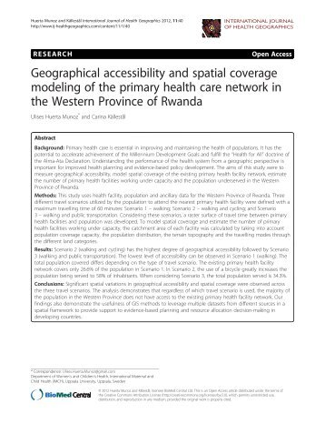 Geographical accessibility and spatial coverage modeling of the ...