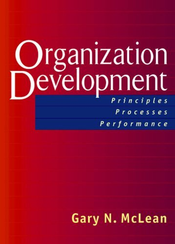 Organization Development - Berrett-Koehler Publishers
