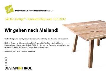 Nähere Informationen finden Sie im Folder! - Design in Tirol