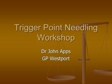 Trigger Point Needling Workshop