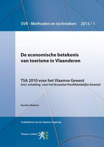 De economische betekenis van toerisme in ... - Vlaanderen.be