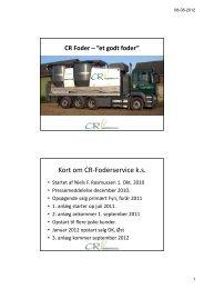 Kort om CR-Foderservice k.s.