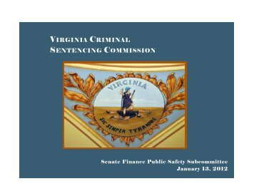 Report of Virginia Criminal Sentencing Commission