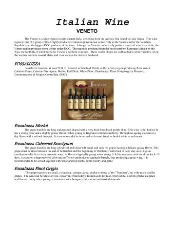 Italian Wine VENETO - Exceptional Wines