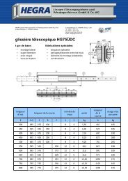 glissière télescopique HG75ÜDC - Hegra Linear