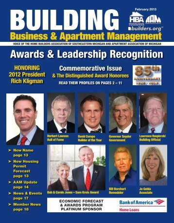 February 2013 BBAM Magazine - HBA of Southeastern Michigan
