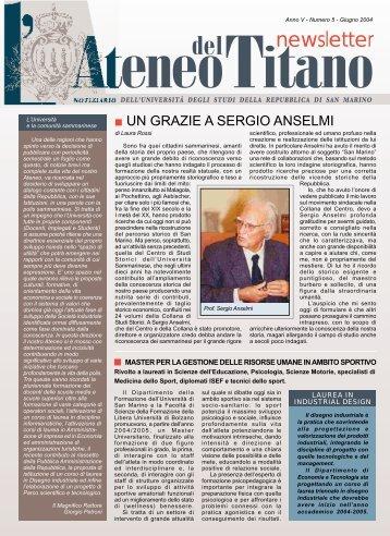 Numero 5 - Giugno 2004 - Università degli Studi della Repubblica di ...