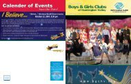 Calender of Events Calender of Events - Boys and Girls Clubs of ...