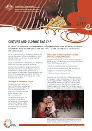 Culture and Closing the Gap fact sheet - Office for the Arts