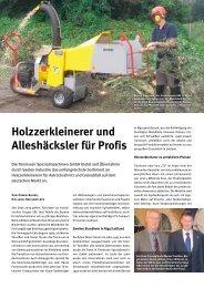 Holzzerkleinerer und Alleshäcksler für Profis