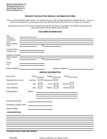 information request form