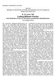Ludwig Wilhelm Fischer - Stadt Rain