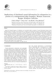 Implications of distributed crustal deformation for ... - Geosciences