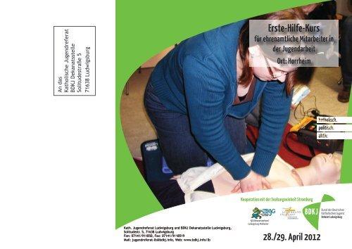 Infos zum Erste-Hilfe-Kurs - Katholisches Jugendreferat