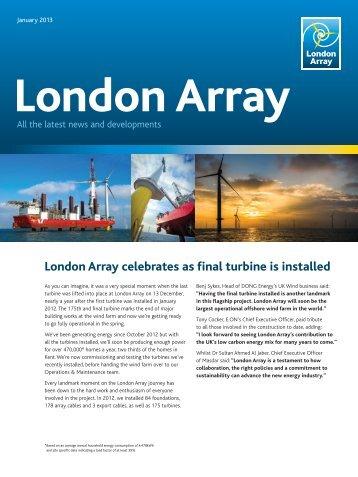 London Array News - Jan 2013