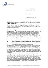 Slutbetänkande om åtgärder för ett längre arbetsliv - Svensk ...