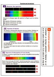 Exercices sur les spectres - Webnode
