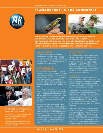 FY2012 REPORT TO THE COMMUNITY - nhptv