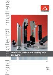 Tools and inserts for parting and grooving