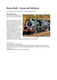Rovos Rail – Luxus auf Schienen - Eine Welt Reisen