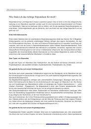 Das richtige Stipendium finden - Albert-Ludwigs-Universität Freiburg