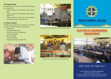 Electrical - Arusha Technical College