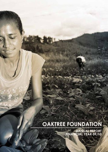 Financial Year: 2009-2010 - The Oaktree Foundation