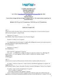 Leggi gli emendamenti presentati in Aula - LeggiOggi