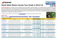 South West Winter County Tours 2014-15