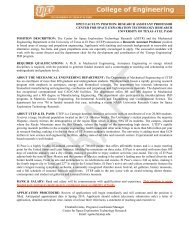 open faculty position: research assistant professor center for space ...