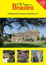 INFORMATION FOR GROUP ORGANISERS 2011 NEW ... - Beaulieu