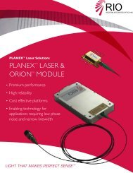 PLANEXTM LASER & ORIONTM MODULE - AMS Technologies